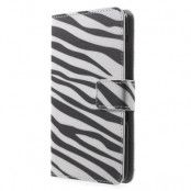 Plånboksfodral till Sony Xperia E4 - Zebra