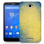 Skal till Sony Xperia E4 - Grunge texture - Gul