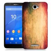 Skal till Sony Xperia E4 - Grunge texture - Orange
