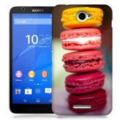 Skal till Sony Xperia E4 - Macarons - Rosa