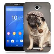 Skal till Sony Xperia E4 - Mops med keps