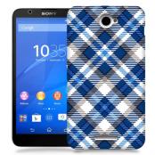 Skal till Sony Xperia E4 - Randigt och rutigt
