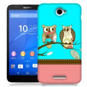 Skal till Sony Xperia E4 - Ugglor i träd