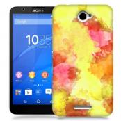 Skal till Sony Xperia E4 - Vattenfärg - Gul/Röd