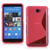Flexicase Skal till Sony Xperia E4g - Magenta
