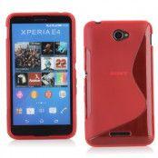 Flexicase Skal till Sony Xperia E4g - Röd