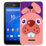 Skal till Sony Xperia E4g - Rosa kanin