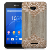Skal till Sony Xperia E4g - Trä - Mandala