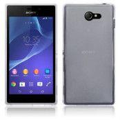 Flexiskal till Sony Xperia M2 - Transparent Vit