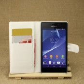 Plånboksfodral till Sony Xperia M2 Aqua - Vit
