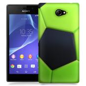 Skal till Sony Xperia M2 - Fotboll - Grön