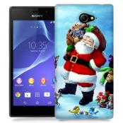 Skal till Sony Xperia M2 - Glad Jultomte