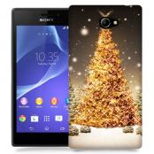 Skal till Sony Xperia M2 - Glimmrande Julgran