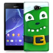 Skal till Sony Xperia M2 - Grönt slajm-monster