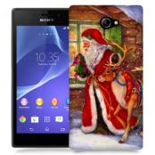 Skal till Sony Xperia M2 - Jultomte och ren
