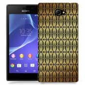 Skal till Sony Xperia M2 - Mönster - Guld/Svart