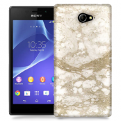 Skal till Sony Xperia M2 - Marble - Beige