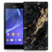 Skal till Sony Xperia M2 - Marble - Svart