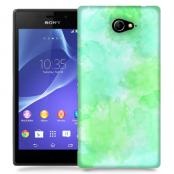 Skal till Sony Xperia M2 - Vattenfärg - Grön