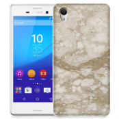 Skal till Sony Xperia M4 Aqua - Marble - Beige