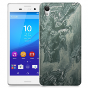Skal till Sony Xperia M4 Aqua - Marble - Grön