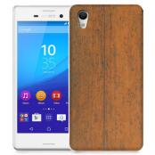 Skal till Sony Xperia M4 Aqua - Slitet trä
