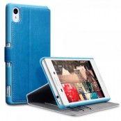 Slim Book Plånboksfodral till Sony Xperia M4 Aqua - Blå