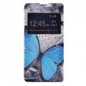 Plånboksfodral till Sony Xperia M5 - Blå Fjäril