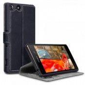 Slimmat Plånboksfodral till Sony Xperia M5 - Svart