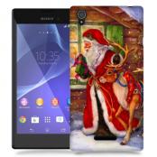 Skal till Sony Xperia T3 - Jultomte och ren