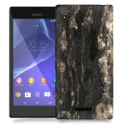 Skal till Sony Xperia T3 - Marble - Brun