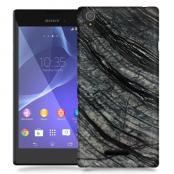 Skal till Sony Xperia T3 - Marble - Svart/Grå