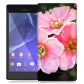 Skal till Sony Xperia T3 - Rosa blommor