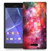 Skal till Sony Xperia T3 - Rymden - Rosa