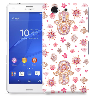 Skal till Sony Xperia Z3 Compact - Fatimas hand - blommor