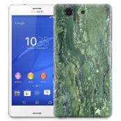 Skal till Sony Xperia Z3 Compact - Marble - Grön