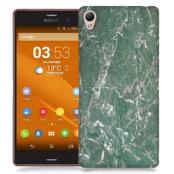 Skal till Sony Xperia Z3 - Marble - Grön