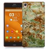 Skal till Sony Xperia Z3 - Marble - Grön/Brun