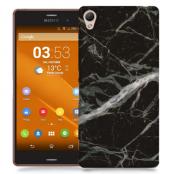 Skal till Sony Xperia Z3 - Marble - Svart