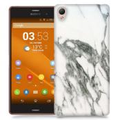 Skal till Sony Xperia Z3 - Marble - Vit/Grå