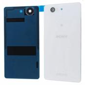 Sony Xperia Z3 Compact Baksida original - Vit - med Tejp