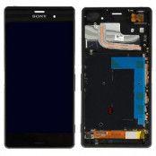 Sony Xperia Z3 LCD Display & Touch Skärm med ram - Svart