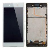 Sony Xperia Z3+ Skärm LCD Display med ram - Vit