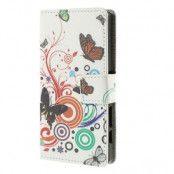 Plånboksfodral till Sony Xperia Z5 Compact - Tre Fjärilar