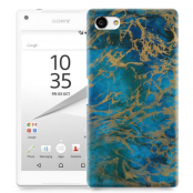 Skal till Sony Xperia Z5 Compact - Marble - Blå