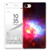 Skal till Sony Xperia Z5 Compact - Rymden - Svart/Rosa