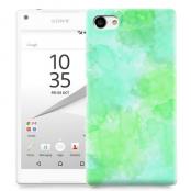 Skal till Sony Xperia Z5 Compact - Vattenfärg - Grön