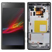 Sony Xperia Z5 Compact Skärm LCD Display med ram - Svart