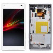 Sony Xperia Z5 Compact Skärm LCD Display med ram - Vit
