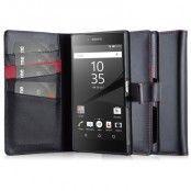 CoveredGear Äkta Läder Plånboksfodral till Sony Xperia Z5 Premium - Svart